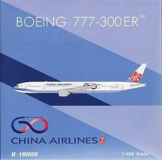 Phoenix Model PHX04281 1:400 China Airlines Boeing 777-300ER Reg #B-18006 60th Anniversary (pre-Painted/pre-Built)