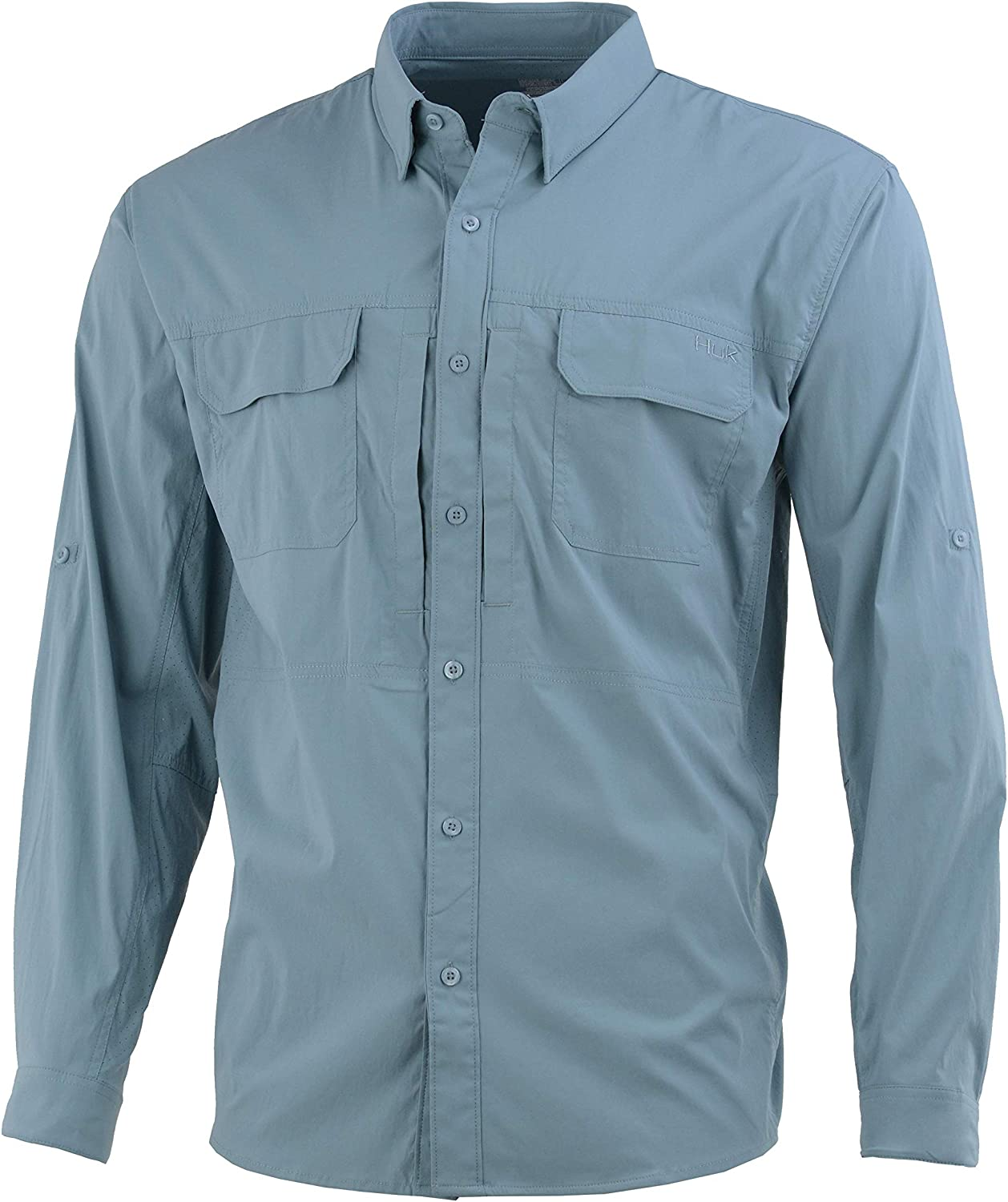 HUK Men's Beaufort Button Down | Fishing Shirt with Sun Protection