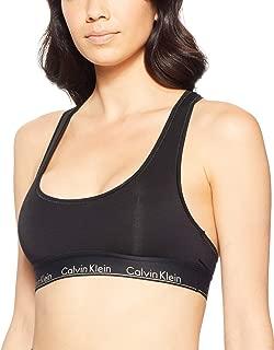 Calvin Klein Women's Modern Cotton Recolors Unlined Bralette, Black with Gold Logo