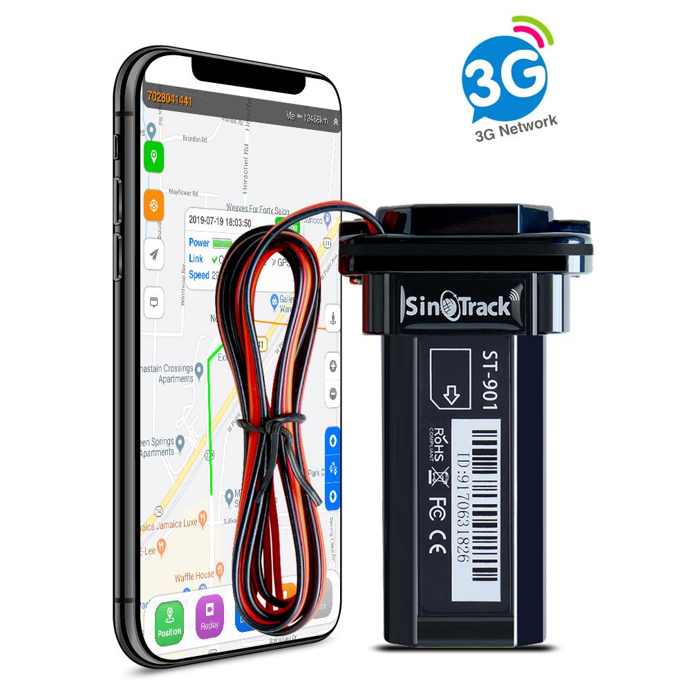 Taxi et Camion Traqueur GPS SinoTrack ST-902W 3G pour v/éhicules Mini traqueur de v/éhicule OBD II avec Alerte pour Voiture localisateur de Dispositif de Suivi GPS de Voiture OBD en Temps r/éel