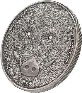 TOYANDONA Metal Challenge Coin Rhinestone Diamond Inlaid Animal Commemorative Coin Vintage Memento Coin Wildlife Protectio...