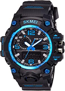 Skmei Analogue-Digital Black Dial Men's Watch -Ad1155 Blue