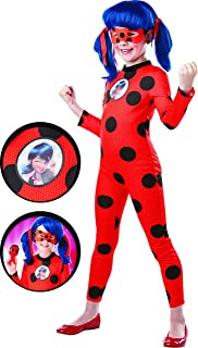 Rubie's Official Miraculous Ladybug Deluxe Childs Costume and Eye mask, Superhero