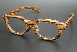 木製めがねフレーム ZE-908F(DOKUSOU TIKUHOU)【ルーツ】【鯖江産】【木のめがね】【Wooden】【ゼブラウッド】【銘木】【日本製】