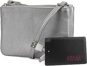 Mundi Protect & Connect RFID Blocking Womens Crossbody Bag Wallet With Bonus Portable Charger