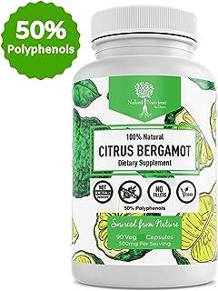 Organic Quality Citrus Bergamot- Highest >50% Polyphenols- Vegan 90 caps- 3rd Party tested- USA made- Helps Maintain Balanced Cholesterol levels, Blood Sugar, Blood Pressure & Triglyceride. (90)