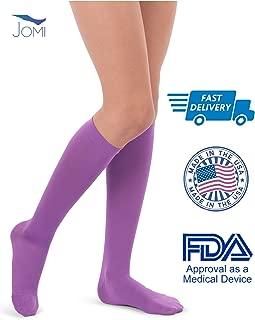 Jomi Compression Socks Women Collection, 15-20mmHg Microfiber 116 (Small, Purple)