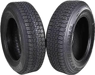 MASSFX ST175/80D13 Bias 6 Ply Trailer Tire Set of 2 Tires 175/80-13