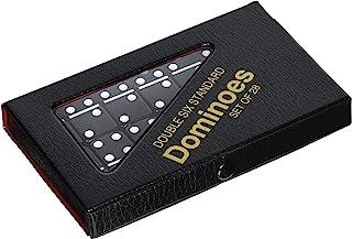 CHH 2408L-BLK Standard Double 6 Dominoes Game Vinyl Case-Black