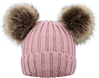Simplicity Kids Winter Pompom Ears Knitted Beanie Hat Ski...