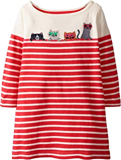 Toddler Girls Cotton Longsleeve Casual Dresses Applique Cartoon