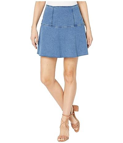 Free People Highlands Denim Skirt (Blue) Women