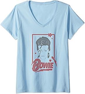 Femme David Bowie - Daydream T-Shirt avec Col en V