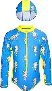 Noon Swim Swimsuit One Piece Long Sleeve Rash Guard   Girls & Toddler Size 2T 3T 4T 5T & 6