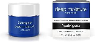 Neutrogena Deep Moisture Night Cream with Glycerin & Vitamin D3, Facial Moisturizer for Dry Skin with Shea butter, Glyceri...