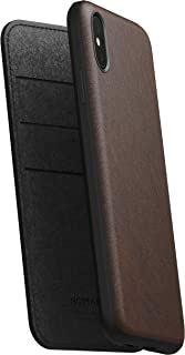 Nomad Rugged Folio for iPhone XS Max   Rustic Brown Horween Leather