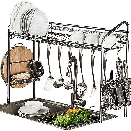 PremiumRacks Professional Over The Sink Dish Rack - Fully Customizable - Multipurpose - Large Capacity - New Product May 2017