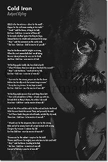 Introspective Chameleon (B&W) Rudyard Kipling Poem Print - Cold Iron - Art Photo Poster Gift - Size: 24 X 16 Inches