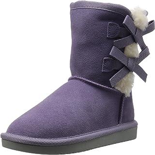 Koolaburra by UGG Unisex-Child Victoria Short Fashion Boot, Montana Grape, 5 Little Kid