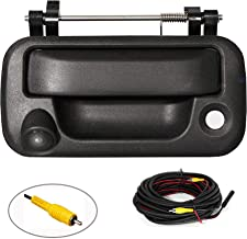 REDWOLF Tailgate Handle With Rear View Backup Camera For 2004-2014 Ford F-150 F150 / 2008-2016 F-250 F-350 Replacement Reverse Parking Camera Removable Guideline Pickup Trucks Black