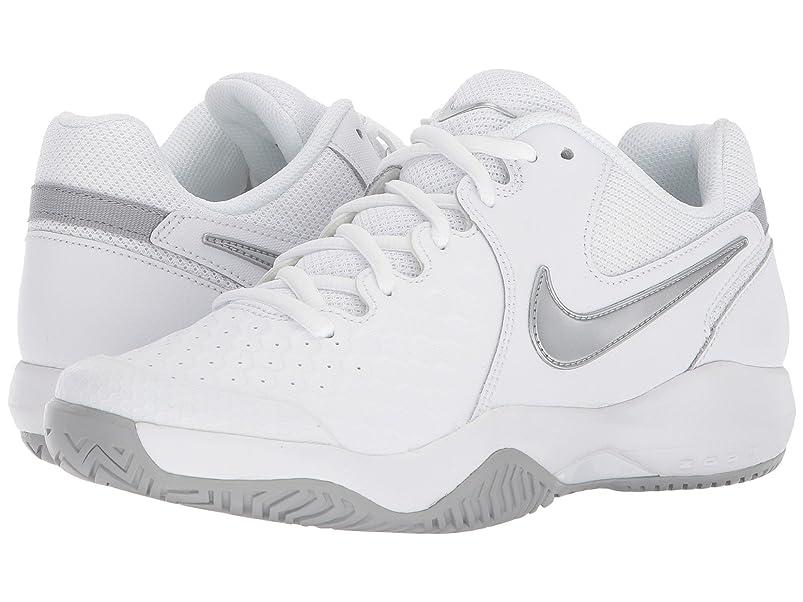 嫌悪名声物思いにふける(ナイキ) NIKE レディーステニスシューズ?スニーカー?靴 Air Zoom Resistance White/Metallic Silver/Wolf Grey 11.5 (28.5cm) B - Medium