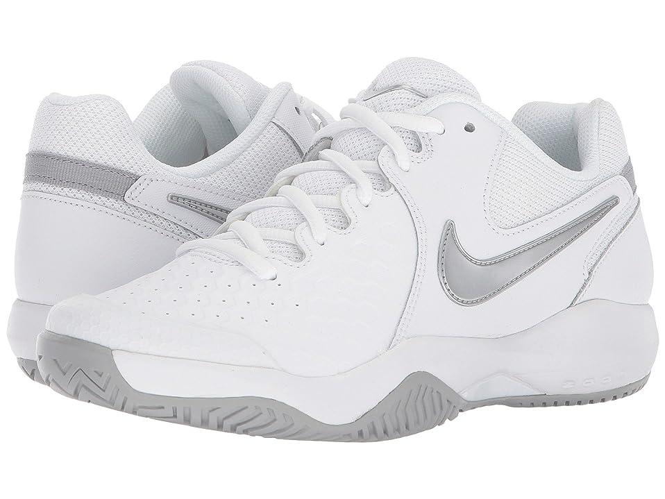 期限シフト見積り(ナイキ) NIKE レディーステニスシューズ?スニーカー?靴 Air Zoom Resistance White/Metallic Silver/Wolf Grey 7 (24cm) B - Medium