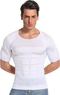 【エーユードリーム】加圧シャツ メンズ 加圧インナー「ジャストライト」猫背矯正 姿勢矯正 体幹トレーニング (ホワイト, Mサイズ)