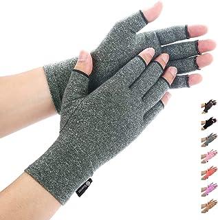 دستکش آرتروز توسط دیررر ، دستکش فشاری برای RSI ، تونل کارپ ، روماتوئید ، تاندونیت ، انگشت دست بدون انگشت ، کوچک بزرگ XL بزرگ برای زنان تسکین دهنده درد (خاکستری ، متوسط)