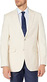 Men's Slim Fit Suit Separate Jacket, Ecru, 44L