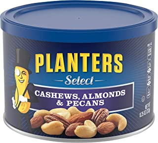 Planters Select Mixed Nuts (8.25 oz Canister) - Variety Mixed Nuts with Cashews, Almonds & Pecans Nut Mix