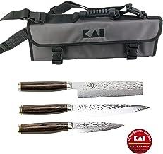 Kai Shun Tim Mälzer - Juego de cuchillos y funda Kai TDM-1700 (cuchillo de oficina, TDM-1701 y TDM-1742 (Nakiri)