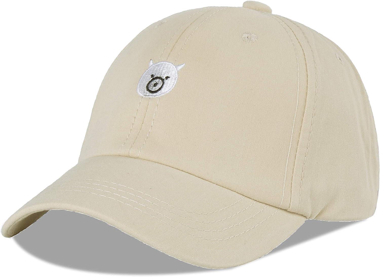 LANGZHEN 100/% Cotton Sun Hat Cotton Baseball Cap Adsjutable Strapback Fit 4 to 8 Years Girl Boys Child