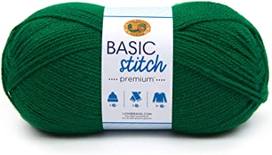 Lion Brand Yarn 201-172 Basic Stitch Premium Yarn, Ivy