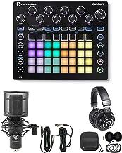 Novation CIRCUIT Groove Box Music Controller Pad/Drum Machine+Mic+Headphones