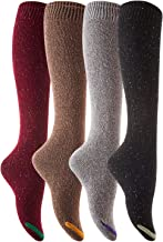 Lian LifeStyle Women's 4 Pairs Pack Knee High Cotton Socks Size(No Navy)