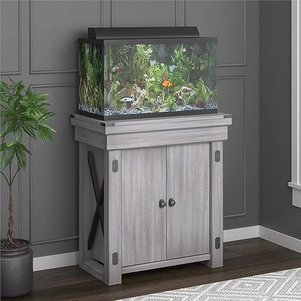 Ameriwood Home Wildwood Aquarium Stand 20 加仑乡村白色