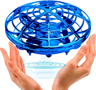 UFO Flying Ball Toys,TURN RAISE Motion Hand-Controlled Suspension Helicopter ToyInfrared Induction Interactive Drone Indoor Flyer Toyswith 360°Rotating and Flashing LED Lightsfor Kids, Boys ,Girls