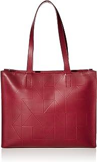 ECCO Damen Geometrik Shopper Tragetasche, Sangria, Einheitsgröße