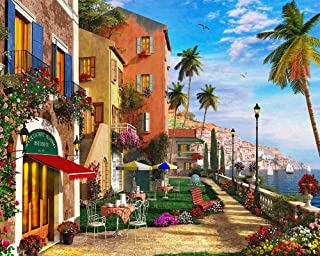 Vermont Christmas Company Mediterranean Terrace Jigsaw Puzzle 1000 Puzzle