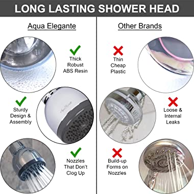 3 Inch High Pressure Shower Head - Best Pressure Boosting, Wall Mount, Bathroom Showerhead For Low Flow Showers, 2.5 GPM - Ch