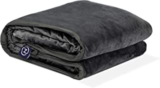 Z by Gravity Weighted Blanket with Dual-Sided Temperature Controlling Removable Cover - Grey 15lbs/Single 48'' x 72''