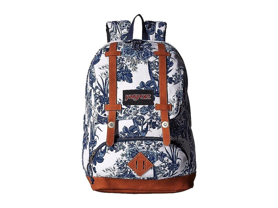 JanSport Baughman (White Artist Rose) Backpack Bags
