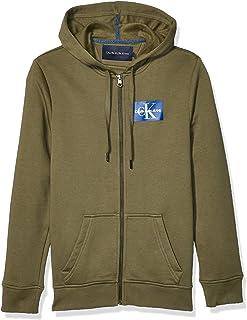 Calvin Klein Men`s Monogram Logo Full-Zip Hooded Sweatshirt