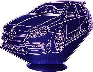 MER. AMG A45, Lampada illusione 3D con LED - 7 colori.