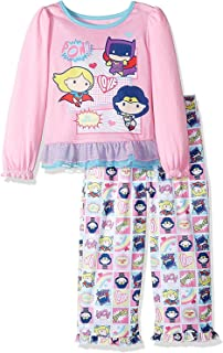 Komar Kids Justice League Pop Figure Superhero Girls Pajamas with Cape (Toddler)