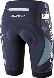 NICEWIN Men�s Cycling Shorts Motorcycle Bike Riding Tights 3D Padded Quick-Dry Half Pants