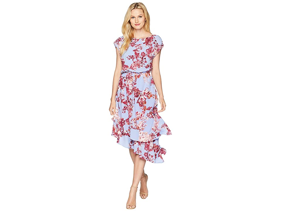 Adrianna Papell Barque Summer Floral Dress (Peri Multi) Women