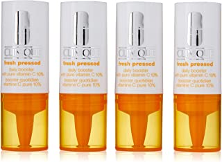 Clinique Fresh Pressed Daily Booster with Vitamin C 10 Percent by Clinique for Women - 4 x 0.29 oz Treatment, 4 count