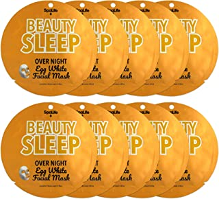 Spalife Beauty Sleep Overnight Egg White Facial Mask 10 count