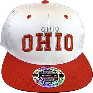City Hunter Ohio Men's Adjustable Snapback Baseball Caps
